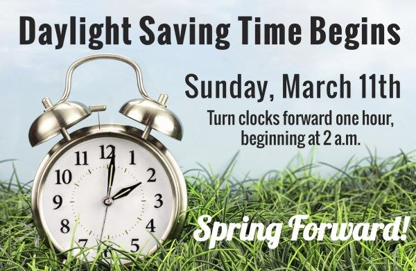 2018 Daylight Saving Time begins March 11