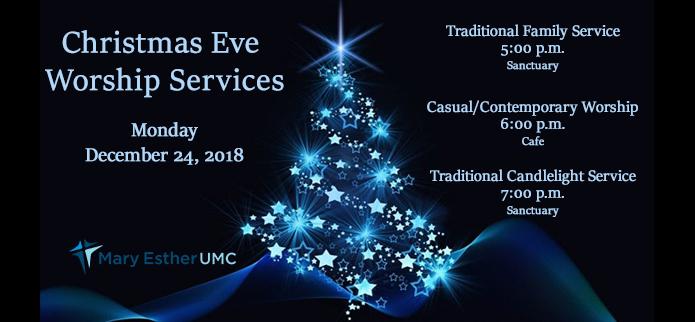 Christmas Eve at Mary Esther UMC