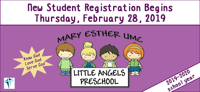 Mary Esther Little Angels Preschool 2019-2020 Registration