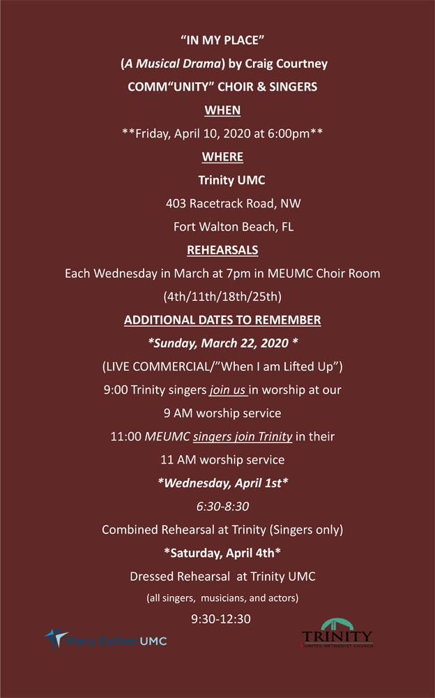 Rehearsal Schedule