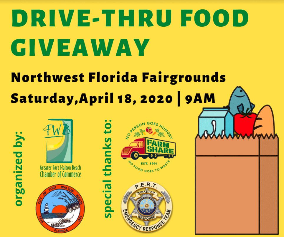 drive thru food giveaway